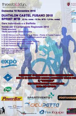 Cicli Petta al Duathlon Pineta di Castelfusano 15.11.15